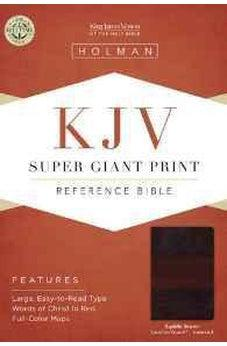 KJV Super Giant Print Reference Bible, Saddle Brown LeatherTouch Indexed 9781433607110
