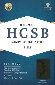 HCSB Compact Ultrathin Bible, Charcoal LeatherTouch 9781433607288
