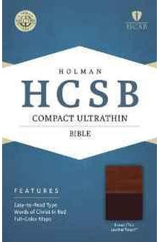 HCSB Compact Ultrathin Bible, Brown/Tan LeatherTouch 9781433607349