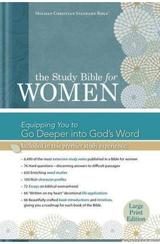 The Study Bible for Women: HCSB Large Print Edition, Printed Hardcover 9781433607677