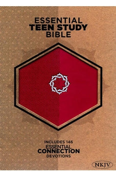 NKJV Essential Teen Study Bible, Rose LeatherTouch 9781433607738