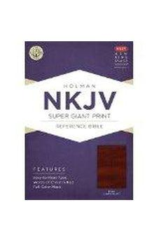 NKJV Super Giant Print Reference Bible, Brown LeatherTouch 9781433614071