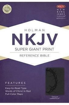 NKJV Super Giant Print Reference Bible, Charcoal LeatherTouch 9781433614095