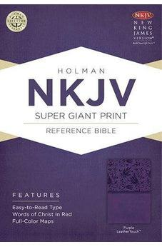 NKJV Super Giant Print Reference Bible, Purple LeatherTouch 9781433614156