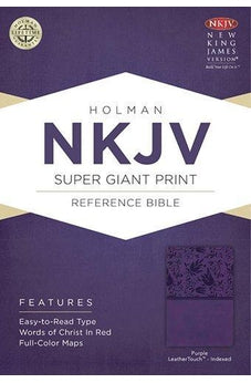 NKJV Super Giant Print Reference Bible, Purple LeatherTouch Indexed 9781433614163