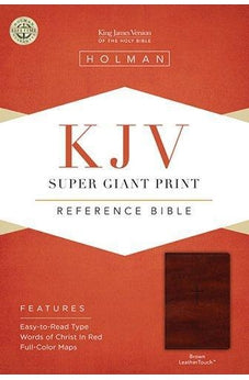 KJV Super Giant Print Reference Bible, Brown LeatherTouch 9781433614460