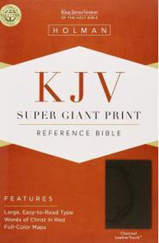 KJV Super Giant Print Reference Bible, Charcoal LeatherTouch 9781433614484