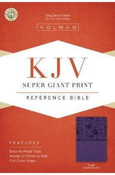 KJV Super Giant Print Reference Bible, Purple LeatherTouch 9781433614507