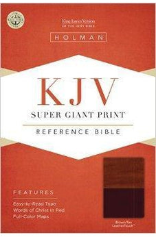 KJV Super Giant Print Reference Bible, Brown/Tan LeatherTouch 9781433614521