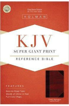 KJV Super Giant Print Reference Bible, Classic Mahogany LeatherTouch 9781433614545