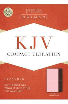 KJV Compact Ultrathin Bible, Pink/Brown LeatherTouch 9781433614637