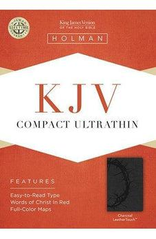KJV Compact Ultrathin Bible, Charcoal LeatherTouch 9781433614712