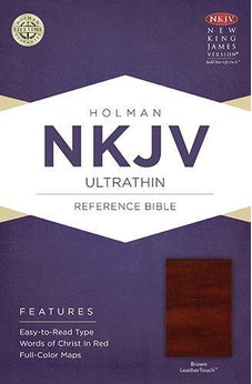 NKJV Ultrathin Reference Bible, Brown LeatherTouch 9781433615054