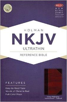 NKJV Ultrathin Reference Bible, Classic Mahogany LeatherTouch Indexed 9781433615283