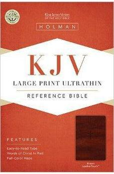 KJV Large Print Ultrathin Reference Bible, Brown LeatherTouch 9781433615535