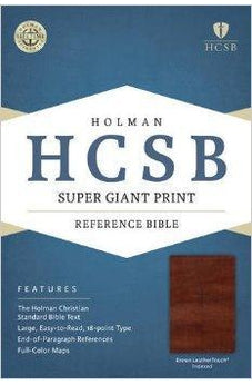 HCSB Super Giant Print Reference Bible, Brown LeatherTouch 9781433615665