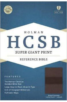 HCSB Super Giant Print Reference Bible, Brown/Chocolate LeatherTouch Indexed 9781433615719
