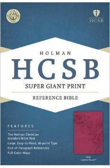 HCSB Super Giant Print Reference Bible, Pink LeatherTouch 9781433615726