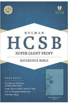 HCSB Super Giant Print Reference Bible, Teal LeatherTouch Indexed 9781433615771