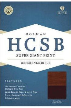 HCSB Super Giant Print Reference Bible, Brown/Tan LeatherTouch 9781433615801