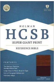 HCSB Super Giant Print Reference Bible, Brown/Tan LeatherTouch Indexed 9781433615818