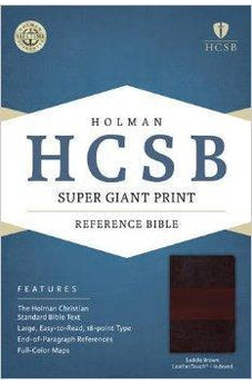 HCSB Super Giant Print Reference Bible, Saddlebrown LeatherTouch Indexed 9781433615856