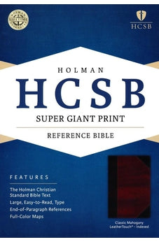 HCSB Super Giant Print Reference Bible, Classic Mahogany LeatherTouch Indexed 9781433615870