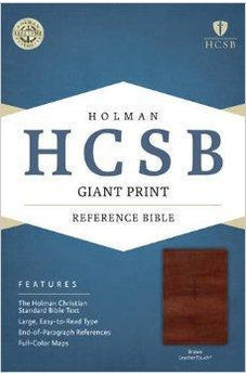 HCSB Giant Print Reference Bible, Brown LeatherTouch 9781433615900