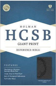 HCSB Giant Print Reference Bible, Charcoal LeatherTouch Indexed 9781433615931