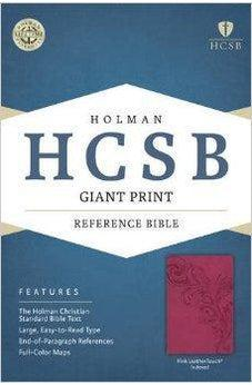 HCSB Giant Print Reference Bible, Pink LeatherTouch Indexed 9781433615979