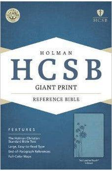 HCSB Giant Print Reference Bible, Teal LeatherTouch Indexed 9781433616013