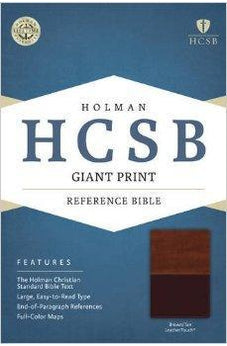 HCSB Giant Print Reference Bible, Brown/Tan LeatherTouch 9781433616044