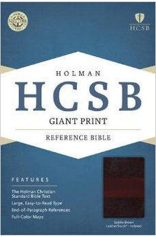 HCSB Giant Print Reference Bible, Saddle Brown LeatherTouch Indexed 9781433616136
