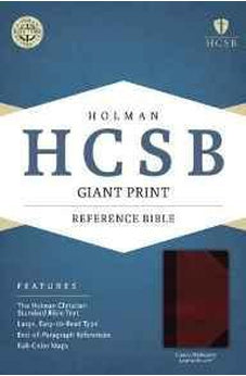 HCSB Giant Print Reference Bible, Classic Mahogany LeatherTouch 9781433616143