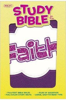 NKJV Study Bible for Kids, Faith LeatherTouch 9781433616402