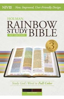 NIV Rainbow Study Bible, Saddle Brown LeatherTouch 9781433616556