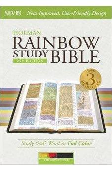 NIV Rainbow Study Bible, Kaleidoscope Black LeatherTouch 9781433616693