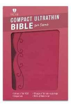 HCSB Compact Ultrathin Bible for Teens, Fuchsia LeatherTouch 9781433616914