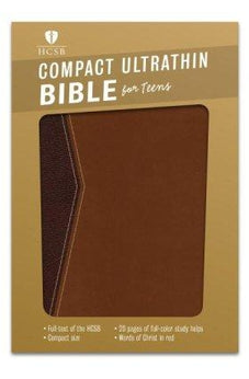HCSB Compact Ultrathin Bible for Teens, Walnut LeatherTouch 9781433616921