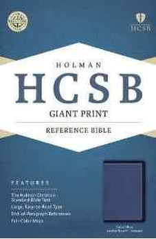HCSB Giant Print Reference Bible, Cobalt Blue LeatherTouch, Indexed 9781433617003