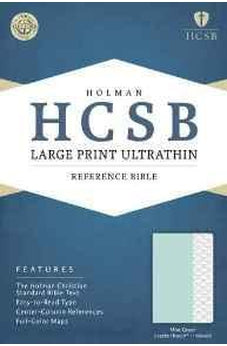 HCSB Large Print Ultrathin Reference Bible, Mint Green LeatherTouch, Indexed 9781433617065