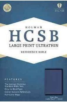 HCSB Large Print Ultrathin Reference Bible, Cobalt Blue LeatherTouch, Indexed 9781433617089