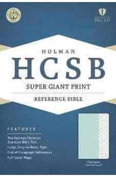 HCSB Super Giant Print Reference Bible, Mint Green LeatherTouch 9781433617102