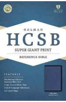 HCSB Super Giant Print Reference Bible, Cobalt Blue LeatherTouch 9781433617119