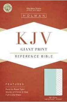 KJV Giant Print Reference Bible, Mint Green LeatherTouch, Indexed 9781433617201