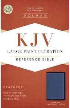 KJV Large Print Ultrathin Reference Bible, Cobalt Blue LeatherTouch, Indexed 9781433617317