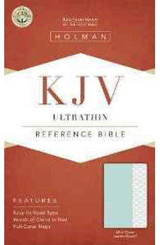KJV Ultrathin Reference Bible, Mint Green LeatherTouch 9781433617409