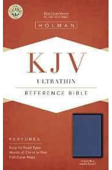KJV Ultrathin Reference Bible, Cobalt Blue LeatherTouch 9781433617423
