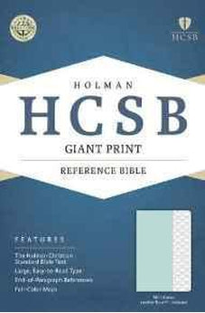 HCSB Giant Print Reference Bible, Mint Green LeatherTouch, Indexed 9781433617799
