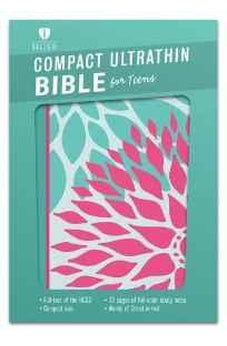HCSB Compact Ultrathin Bible for Teens, Green Blossoms LeatherTouch 9781433617867